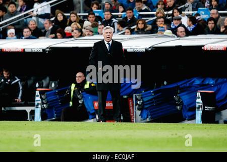 Madrid, Spanien. 6. Dezember 2014. Carlo Ancelotti (realen) Fußball: Real Madrid Manager Carlo Ancelotti während - Stockfoto