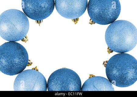 Kreis aus christbaumkugeln stockfoto bild 47723993 alamy - Blaue christbaumkugeln ...