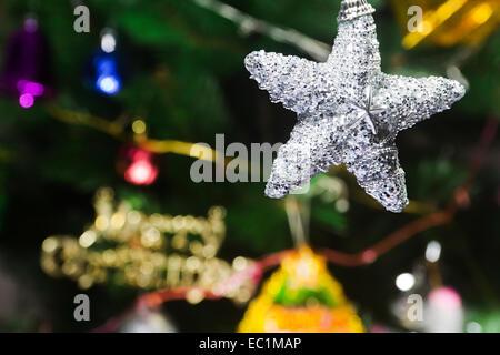 Festival-Weihnachtsbaum Sterne niemand - Stockfoto