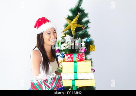 Inderin Christmas Festival Geschenk - Stockfoto