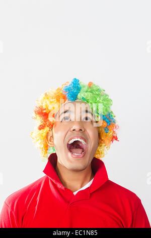 ein indischer Mann Toupet Perücke - Stockfoto