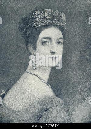 Königin Victoria (1819-1901) bestieg den Thron von England im Jahre 1837 und regierte bis zu ihrem Tod im Jahre - Stockfoto