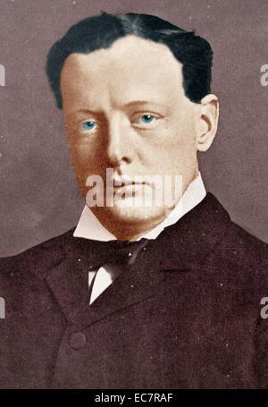 Winston Churchill, britischer Politiker (30. November 1874 – 24. Januar 1965) gezeigt während Weltkrieges einer - Stockfoto