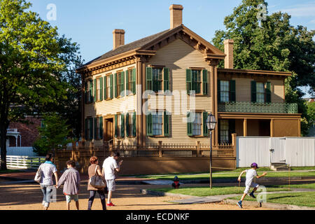 Springfield Illinois Abraham Lincoln Home National Historic Site East Jackson Street South 8 Familie - Stockfoto