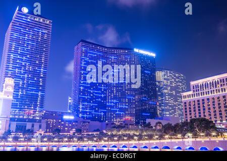 Das kosmopolitische Hotel and Casino in Las Vegas. - Stockfoto