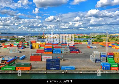 Maritime Containerterminals - Stockfoto