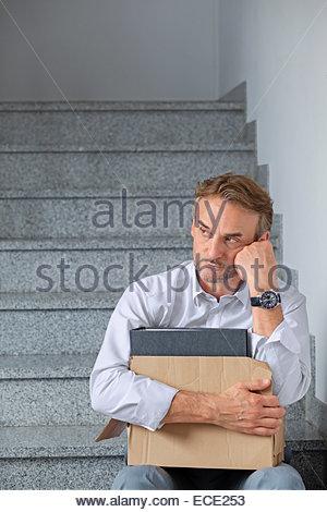 Geschäftsmann Skandal Schande depressiv verzweifelten dept - Stockfoto