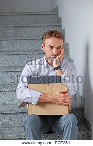 Man Arbeitslosigkeit unglücklich erfolglos Scheitern - Stockfoto