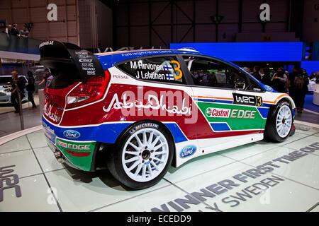 Genf - März 8: Der Ford Fiesta RS WRC auf dem Display auf der 81. International Motor Show Palexpo-Genf am 8. März; - Stockfoto