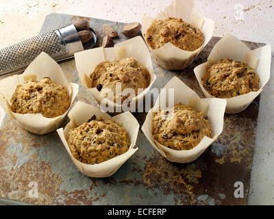 Vegan-Yam-muffins - Stockfoto