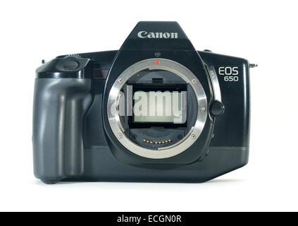 Canon EOS 650 SLR Filmkamera, erste Generation von den Auto-Fokus-Bereich - Stockfoto