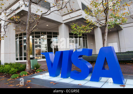 Das Hauptquartier der Kreditkartenanbieter Visa. - Stockfoto