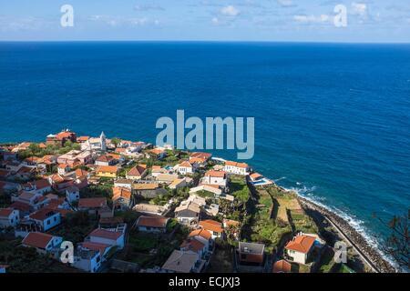 Portugal, Madeira Insel, Jardim Do Mar, ein malerisches Dorf am Meer, die besten Surf-spot auf Madeira Stockfoto
