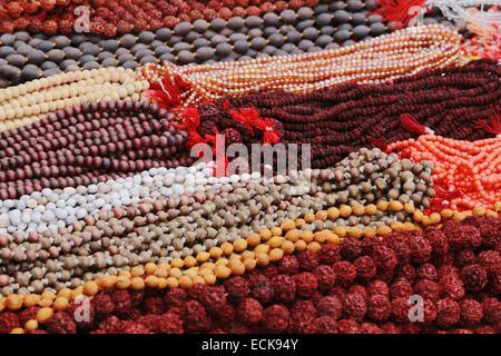 Rudraksha Mala oder Gebet Perlen