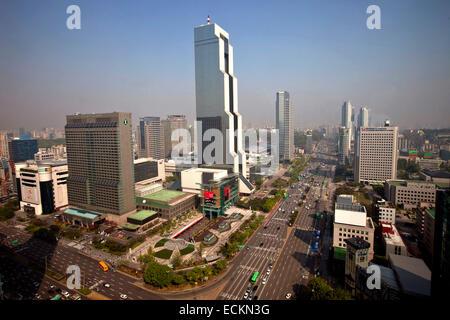 Seoul, Gangnam-Gu Bezirk, Korea World Trade Center von Nikken Sekkei - Stockfoto