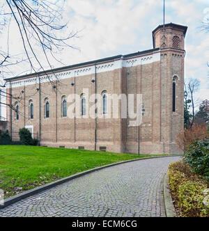außen die Scrovegni-Kapelle oder Cappella Degli Scrovegni, auch bekannt als die Arena-Kapelle, Padua, Italien - Stockfoto