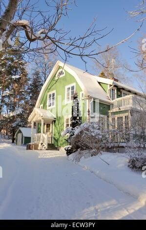 Schwedische Mittelklasse nach Hause - Stockfoto