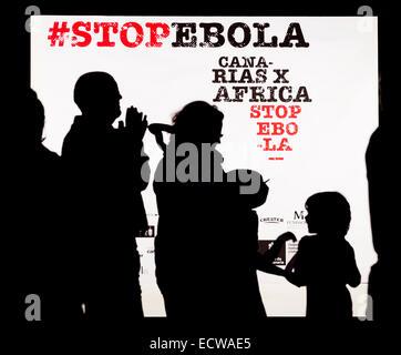 Ebola-Konzert in Las Palmas, Gran Canaria, Kanarische Inseln, Spanien zu stoppen - Stockfoto