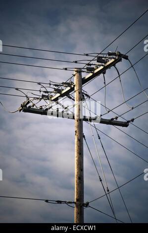 Stromleitungen, Everett, Washington, USA - Stockfoto