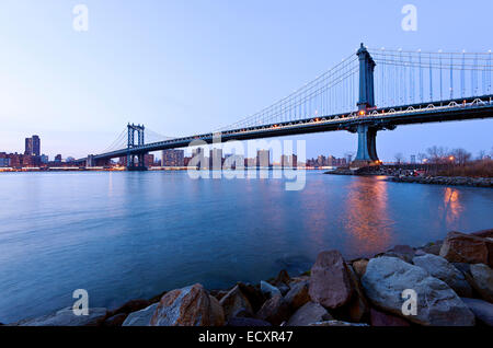 Manhattan Bridge East River - Stockfoto