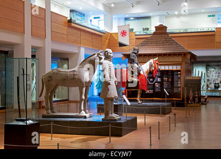 Display in das Royal Armouries Museum in Leeds, West Yorkshire, England UK - Stockfoto