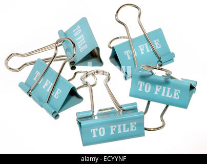 Datei-Clips - Stockfoto