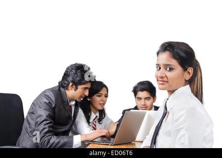 indische Business Office Mitarbeiter - Stockfoto