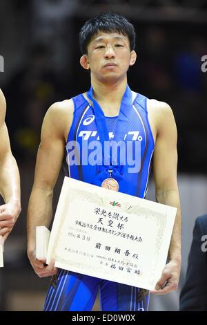 Nd Yoyogi Gymnasium, Tokio, Japan. 22. Dezember 2014. Shogo Maeda, 22. Dezember 2014 - Ringen: Alle Japan Wrestling - Stockfoto