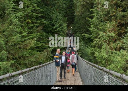 Capilano Suspension Bridge #2, Capilano Park, Vancouver, Britisch-Kolumbien, Kanada - Stockfoto