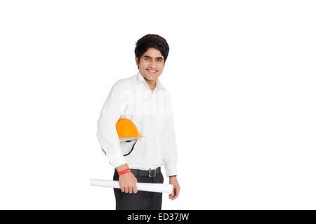 1 indische Business Architect Mann - Stockfoto