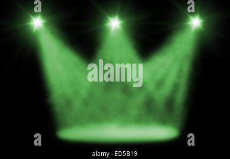Hintergrund der Bühne spot-Beleuchtung grün - Stockfoto