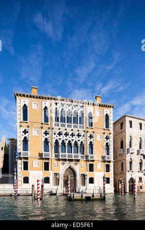 Villen und Paläste, Canal Grande, Venedig, Italien - Stockfoto