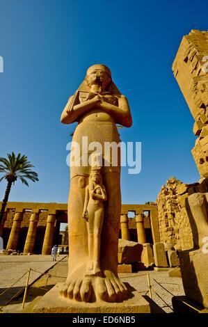 Ägypten, Oberägypten, Nil Tal, Luxor, Karnak-Tempel, Ramses 2. - Stockfoto