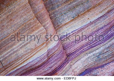 Rainbow Vista bunten Mustern in Sandstein, Valley of Fire State Park, Nevada - Stockfoto