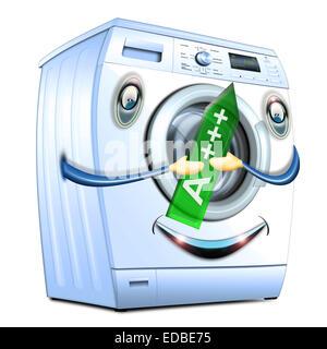 Waschmaschine, A +++ Energieeffizienzklasse, Illustration