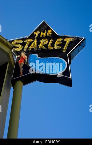 Starlet Schild am Wohnhaus in Burbank, Kalifornien - Stockfoto