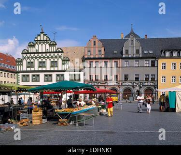 cranach haus am markt platz weimar deutschland europa stockfoto bild 65435998 alamy. Black Bedroom Furniture Sets. Home Design Ideas