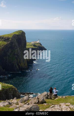 Punkt der landschaftlich Ansicht Leuchtturm Isle Of skye - Stockfoto