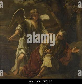 Biblische Szene, vielleicht der Prophet Elijah Visited von einem Engel zugeschrieben Ferdinand Bol, c. 1645 - c. - Stockfoto