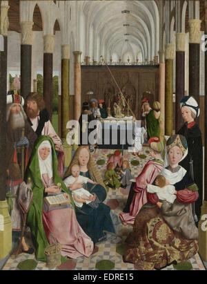 Der Heiligen Sippe Werkstatt von Geertgen tot Sint Jans, c. 1495 - Stockfoto