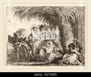 maria und josef mit esel auf dem weg nach bethlehem stockfoto, bild: 28746335 - alamy