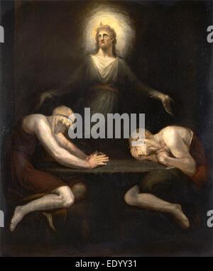 Christus, die verschwinden von Emmaus, Henry Füssli 1741-1825, Schweiz - Stockfoto