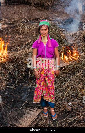 Karen Hill Tribe, Nord-Thailand - Stockfoto