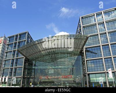 Deutschland, Berlin, Europa, Hauptstadt, Stadt, Sehenswuerdigkeit, Hauptbahnhof, Umwandlungs-, Gebaeude, Lehrter - Stockfoto
