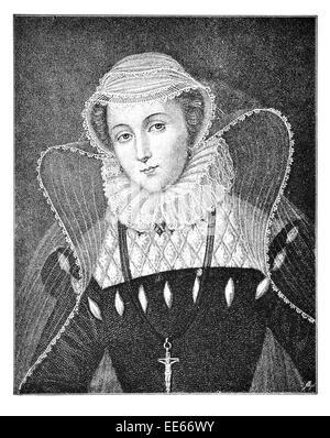 Mary Stuart Queen of Scots Schottland 1542 1567 Porträt Royalty Royal Regal edel Adel oberen Klasse privilegierten - Stockfoto