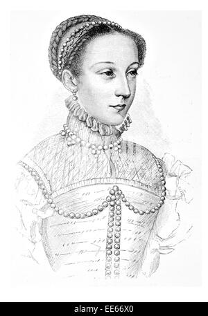 Mary Stuart Queen of Scots Schottland 1542 1567 Porträt Royalty Royal Regal edel Adel oberen Klasse privilegierten - Stockfoto