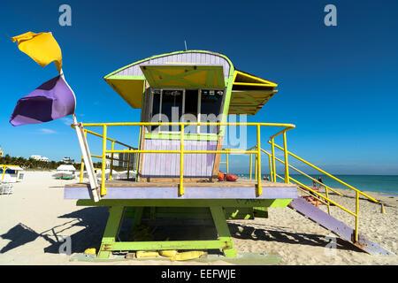 Strandwache South Beach, Miami, USA - Stockfoto
