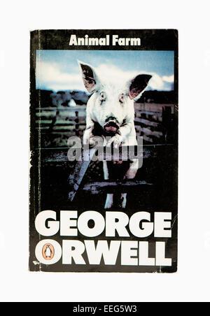 George Orwell Animal Farm Penguin Classic Bucheinband - Stockfoto