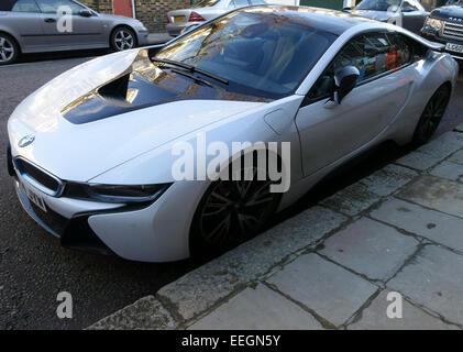 BMW i-8 Elektro-Auto, London - Stockfoto