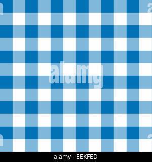 Zwei getönten blauen und weißen nahtlosen karierten Hintergrund - Stockfoto